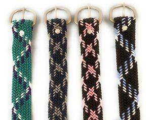 Vintage-Nocona-Braided-Nylon-Paracord-Western-Belt-Washable-Adjustable-to-42-034