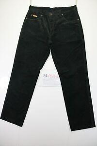 Wrangler-Texas-Velluto-Cod-M1586-tg50-W36-L34-jeans-usato-Vita-Alta-Vintage-nero