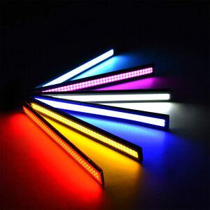 LUCI-A-LED-DIURNE-17cm-PER-AUTO-BIANCO-BLU-ROSSO-GIALLO-COB-LED-IMPERMEABILE