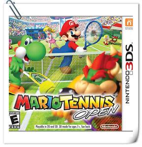 3DS Nintendo Mario Tennis Open Action