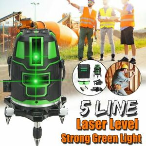 Baulaser 5 Line Laser Level 3D Kreuzlinienlaser Grün Rotationslaser Messwerkzeug