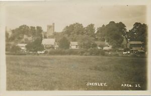 SHENLEY-Shenley-Real-Photo-Postcard-rppc-Buckinghamshire-England
