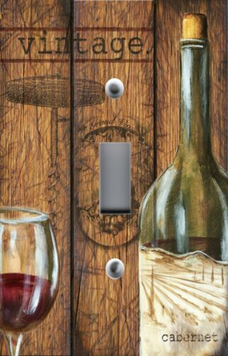 Light Switch Plate Switchplate /& Outlet Covers TUSCAN VINTAGE RED WINE WOOD
