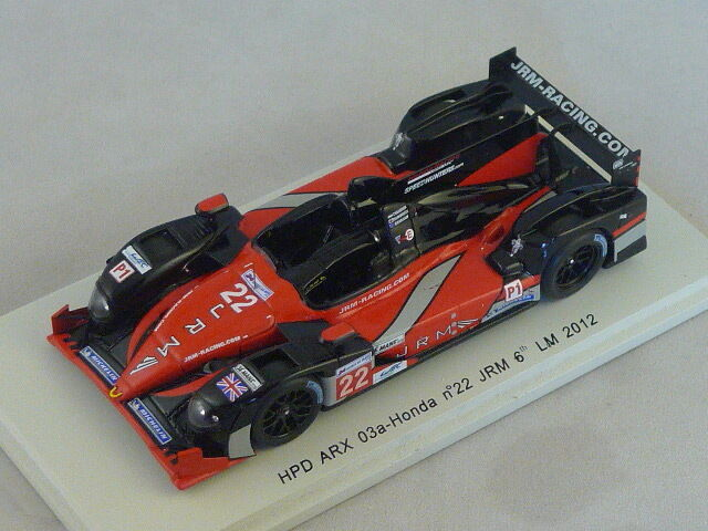 Spark S3709 -  HPD ARX 03a Honda JRM n°22 6ème Le Mans 2012 Brabham  1 43
