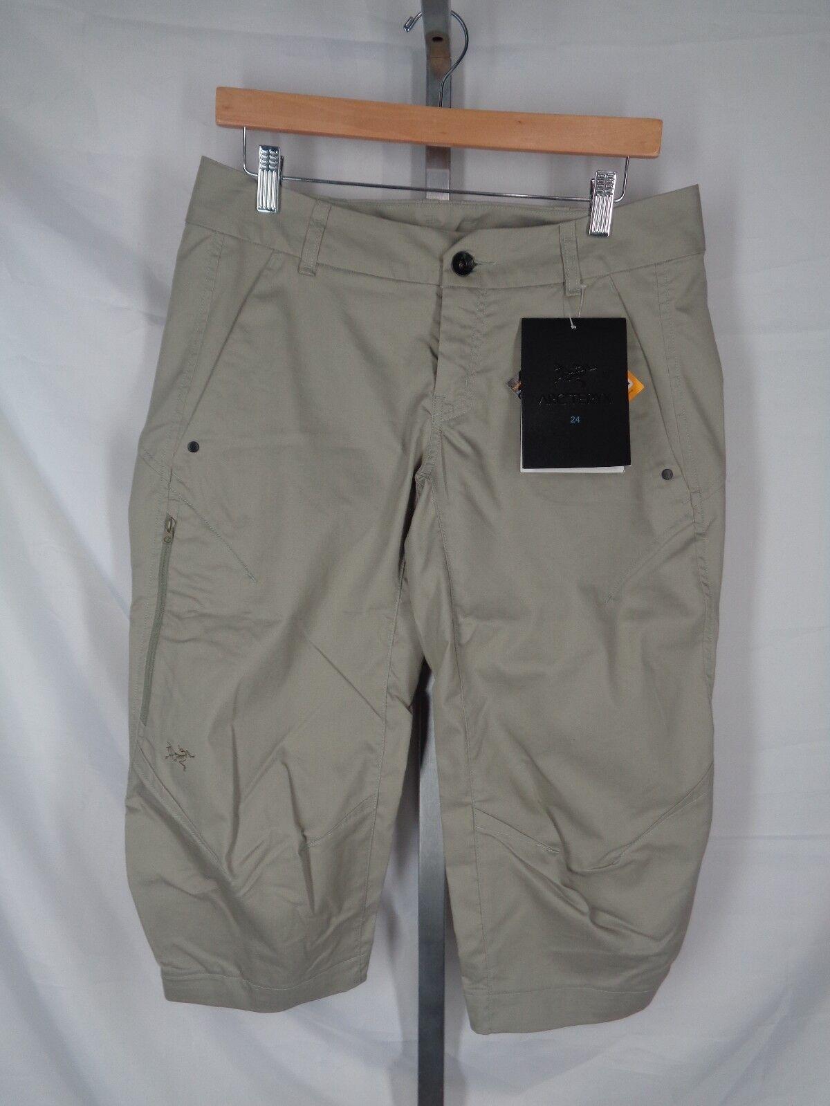 Arc'teryx A2B Commuter Crop Pants Size 8 Womens Trim Fit Light Carbide New