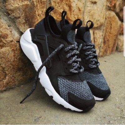 Dettagli su Nike Air Huarache Run Ultra se GS Sneakers 942121 004 Nero mostra il titolo originale