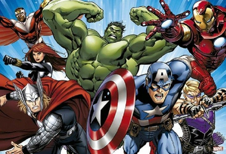1000 Pieces Jigsaw Puzzle Marvel Avengers Charge Bromide Home Decoration_NV