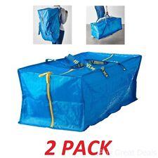 2 Bags Ikea Frakta 20 Gallon Zippered Storage Bags Travel Shopping Laundry
