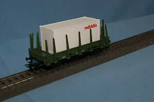 Marklin-44591-DB-Spiked-Car-Green-with-Marklin-Container