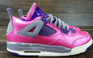 the best attitude 5c28f 9de5a Details about Nike Air Jordan 4 Retro Pink Grey Purple 487724-607 Size 7Y  girls