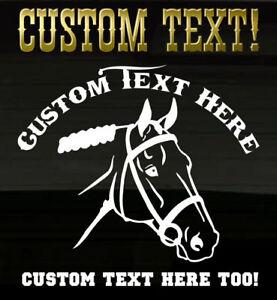 Horse-Stallion-Head-YOUR-CUSTOM-TEXT-Ranch-Decal-Graphic-Horses-Farm-Sticker