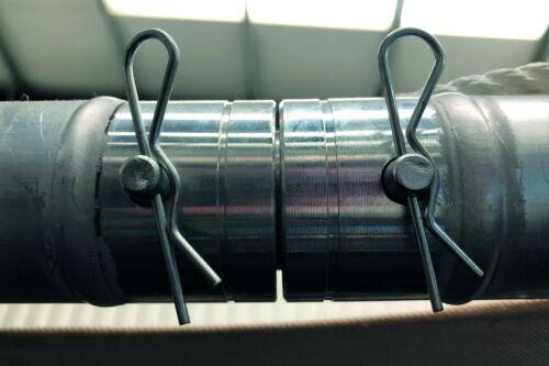 50 x R Clips Retaining Pins Hair Pins Spring Cotter Pins Split Pins 2mm x 43mm