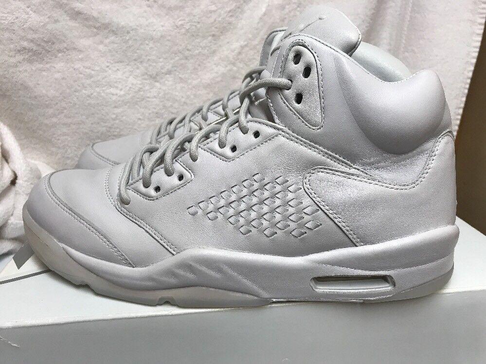 Mens Air Jordan 5 Retro  Premium Pure Platinum White 881432-003 Size US 11.5
