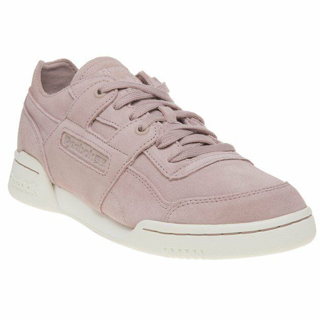 1f0b8166b9602 Womens Reebok Workout Low Plus Shell Pink Chalk Trainers Shoes UK 4 for  sale online