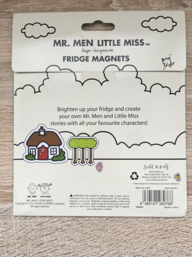 MR MEN AND LITTLE MISS VARIOUS CHARACTERS SET OF FRIDGE MAGNETS NEW IN PACK