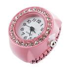 Orologio da Dito Anello al Quarzo Rosa con Strass Numeri Arabi Moda B2B1