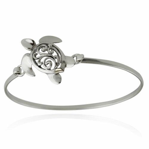 Turtles Filigree Ocean NEW Sea Turtle Bangle Bracelet 925 Sterling Silver