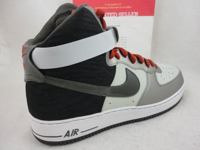 Nike Air Force 1 High '07, Dusty Grey / Newsprint, 315121 022, Comfortable Comfortable and good-looking