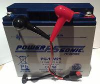 Power Sonic Pg12v21 12v 21ah Agm/gel Golf Battery + Torberry Lead Connector