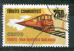 TURKEY-1971-TURKEY-RAILWAY-COMMEMORATIVE-STAMP-SG-2389-FU