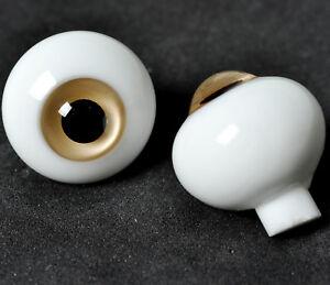 Realistic flatback Glass 20mm BJD Eyes for Reborn Doll DarkRed iris/&Black Pupil