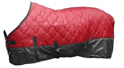 66  Rosso 420 Denari Imbottito Nylon Cavallo Inverno Coperta da Showman Nuovo