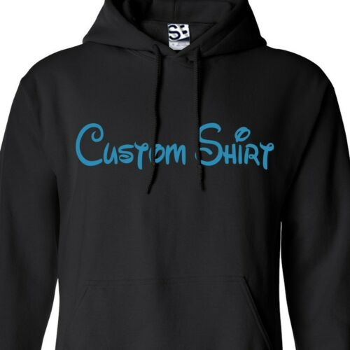 Custom Disney Text HOODIE Personalized Family Vacation Cruise Jumper Sweatshirt