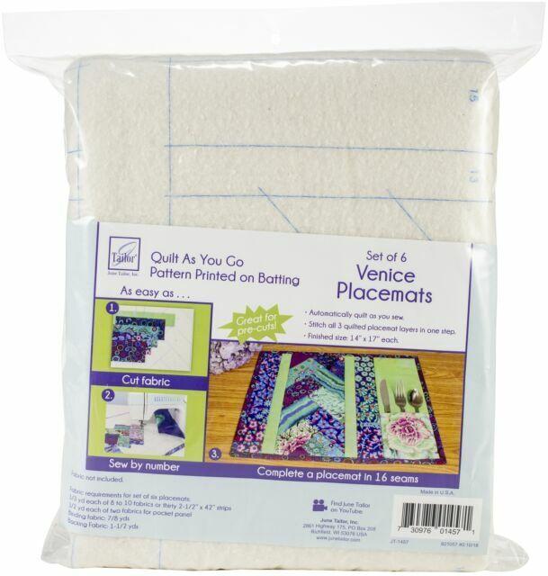 June Tailor Quilt As You Go Placemat 6//pkg-venice