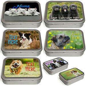 Personalised Dog Tobacco Tin 2oz Baccy Fathers Day Cigarette Birthday Gift Pet