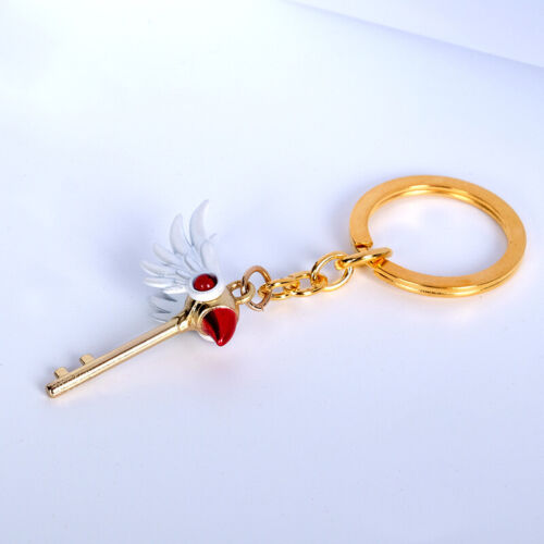 Card Captor Sakura Kinomoto Sakura Wand Keyring Pendant Key Chain Key Holder