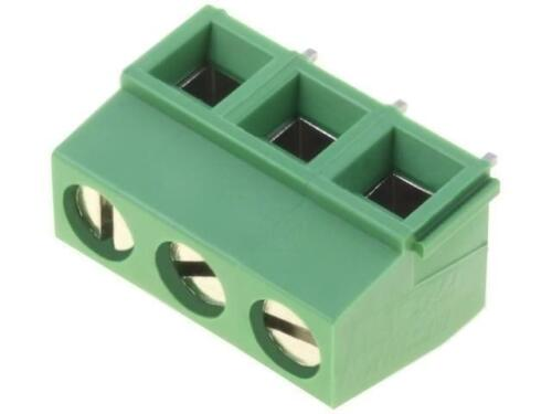 4x 282836-3 Terminal block angled 90 0.031.5mm2 5mm ways3 13.5A 300V