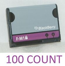 100 LOT New OEM BlackBerry F-M1 Battery Phone Pearl 9105 9100 Style 9670 fm1 att
