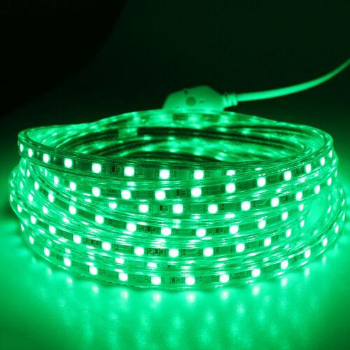 1M-20M 5050 LED Strip Light 220V 60leds//m Flexible tape rope Waterproof outdoor