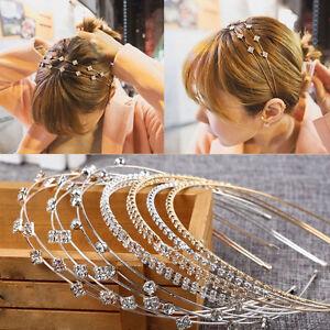 Fashion-Women-Jewelry-Metal-Crystal-Rhinestone-Headband-Head-Piece-Hair-Band