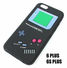 For iPhone 6+ / 6S+ Plus - SOFT SILICONE RUBBER SKIN CASE BLACK GAMEBOY PLAYER