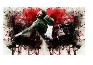 Manchester-United-Legends-prints-A4-CANVAS-set-of-3-A4-prints