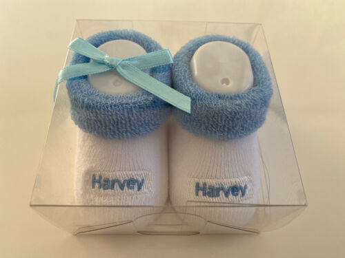 Baby's First Socks ~ Personalised Baby Shoes//Booties Gift ~ Harvey