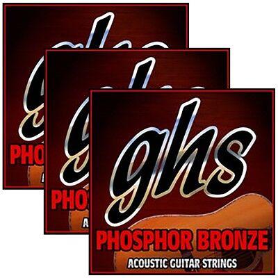 3 sets ghs s325 phosphor bronze 6 string acoustic guitar strings light 12 54 737681005931 ebay. Black Bedroom Furniture Sets. Home Design Ideas