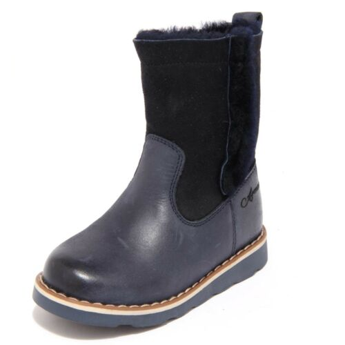 3648F stivale blu ARMANI JUNIOR scarpa bimba boots shoes kids