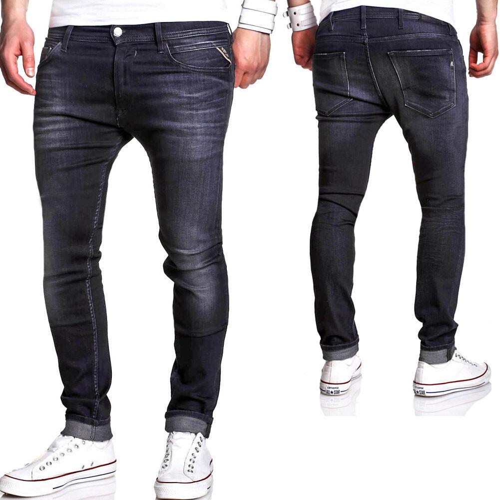 REPLAY Jeans JONDRILL Power Stretch Skinny Fit black M931.000.629.606 NEU