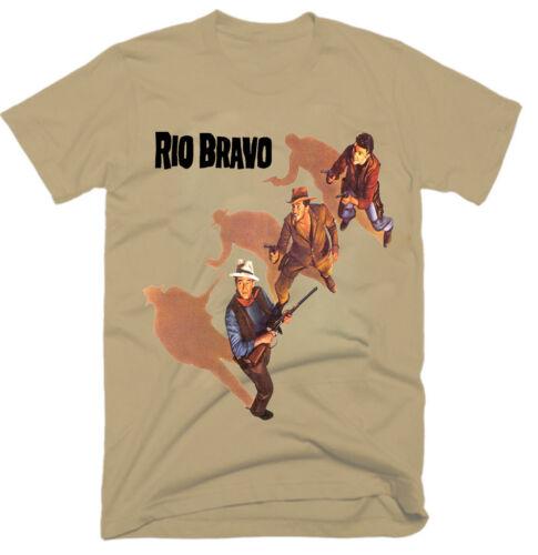 MOVIE 100/% COTTON,MEN/'S T-SHIRT.,E0359 RIO BRAVO