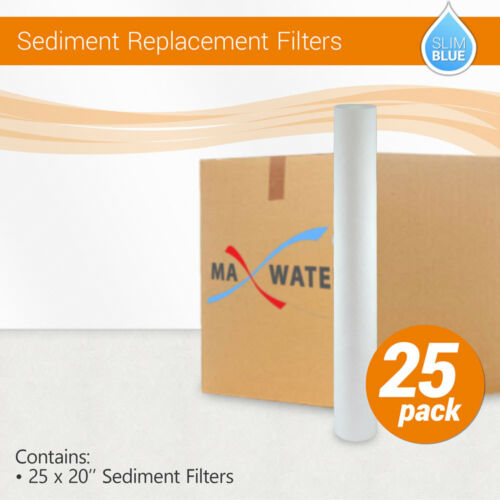 """20/""""x2.5/""""  Whole House Sediment Water Filter Cartridge 25 1 or 5 Micron"""
