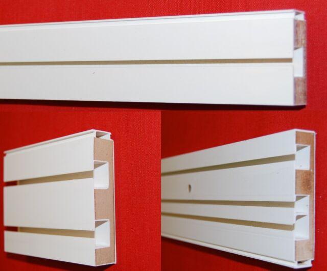 Gardinenschiene 1/2/3 läufig weiß Vorhangschiene Innenlaufrollen U-Verbinder
