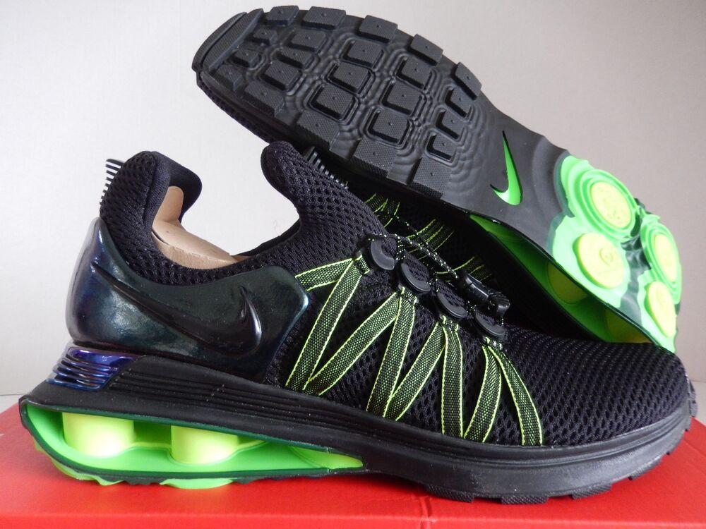 NIKE SHOX GRAVITY TURBO NZ Noir-Noir-GORGE GREEN Homme  Chaussures de sport pour hommes et femmes
