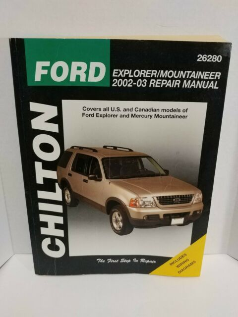 Chilton Ford Repair Manual Mountaineer