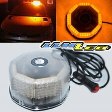JDM MAGNETIC 240 LED YELLOW FLASHING STROBE LIGHT FOR ROOF TOP PLUG N PLAY