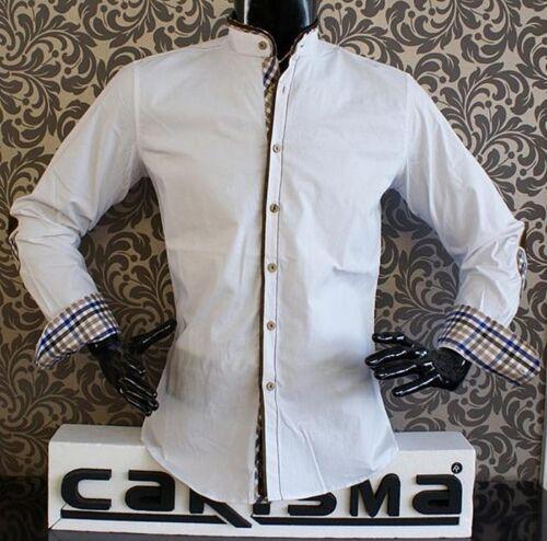Designer Camicia di carisma in bianco Nuovissima!! beige o Navy crm8070