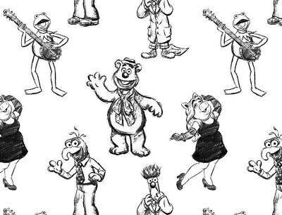 Fat Quarter Tissu Muppets Muppet Babies Kermit Miss Piggy OURS BEAR Gonzo FQ