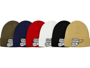 Image is loading SUPREME-The-War-Report-Beanie-Black-Olive-Capone-