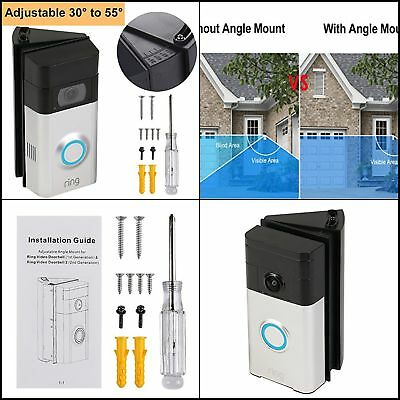 Door Ring Camera Adjustable Angle Mount Wi-Fi Enable Doorbell Corner Video Small